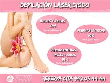 depilacion laser diodo chica